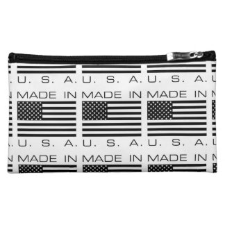Made In The USA Flag Cosmetic Bag