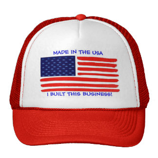 Made in the USA  I Built This Business Cap Trucker Hat