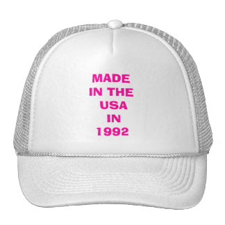 MADE IN THE USA IN 1992 TRUCKER HAT