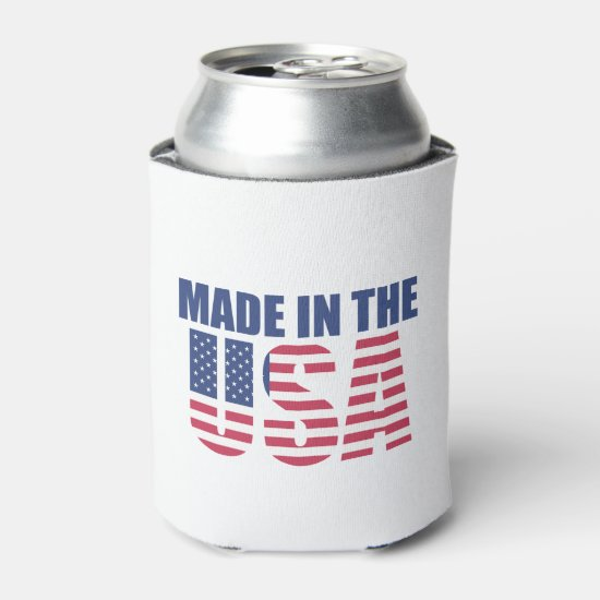 Made In The USA July 4th Beverage Can Cooler