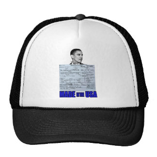 made in the usa obama trucker hat