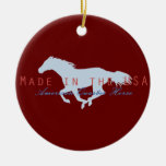 Made In The USA Double-Sided Ceramic Round Christmas Ornament