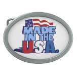 Made In The USA Oval Belt Buckle