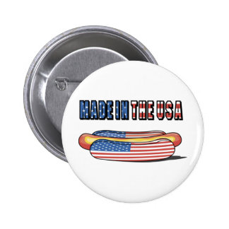 Made in the USA Patriotic Hot Dog Button