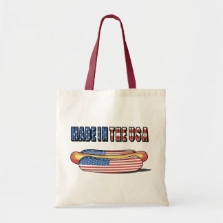 Made in the USA Patriotic Hot Dog Canvas Bag