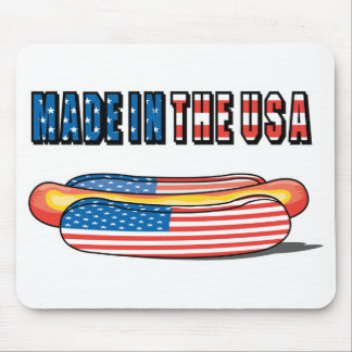 Made in the USA Patriotic Hot Dog Mouse Pads