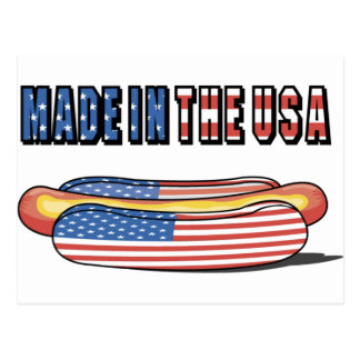 Made in the USA Patriotic Hot Dog Postcard