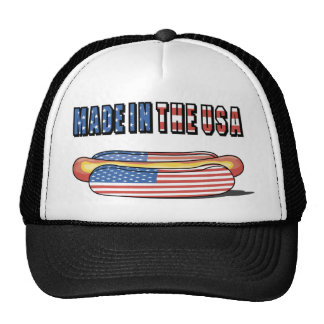 Made in the USA Patriotic Hot Dog Trucker Hat