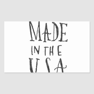 Made in the USA Rectangular Sticker