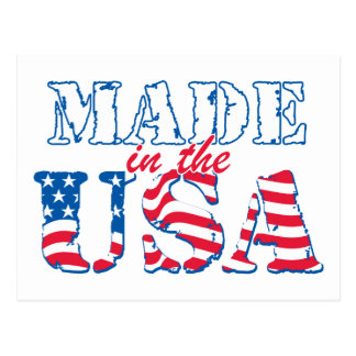Made in the USA rev Postcard