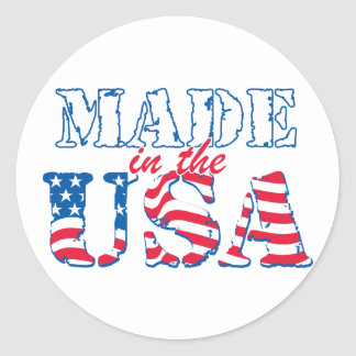 Made in the USA rev Round Stickers