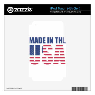 Made In The USA Skin For iPod Touch 4G