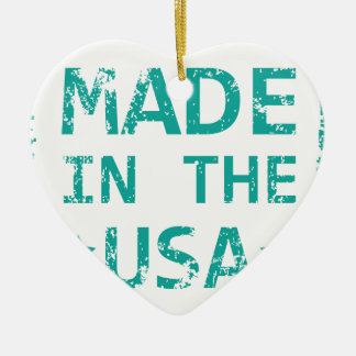 Made in the USA stamp Ceramic Ornament
