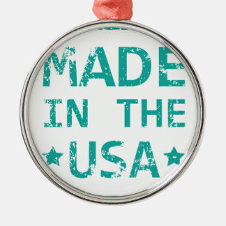 Made in the USA stamp Metal Ornament