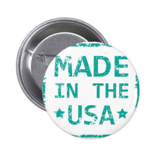 Made in the USA stamp Pinback Button