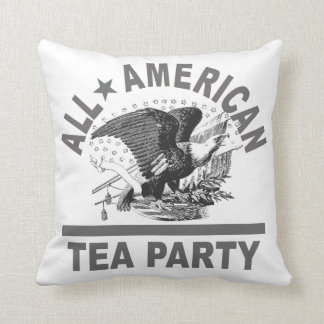 Made in the USA Tea Party Patriotic Throw Pillow
