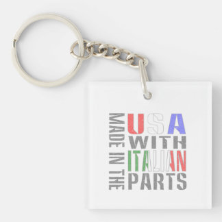 Made in the USA wit Italian Parts Single-Sided Square Acrylic Keychain