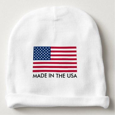 USA Themed Made in the USA with Flag Baby Beanie