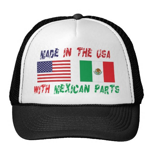 Made In The USA With Mexican Parts Woman's Trucker Hat