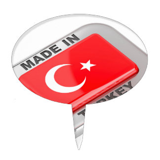 Made in Turkey Cake Topper