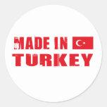 Made in Turkey Classic Round Sticker
