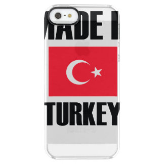 Made In Turkey Flag Clear iPhone SE/5/5s Case