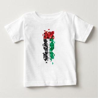 Made in UAE, Abstract UAE Flag, United Arab Emirat Baby T-Shirt