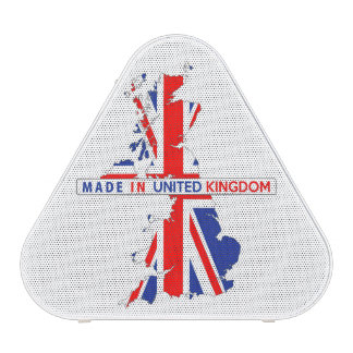 made in united kingdom map flag product label speaker