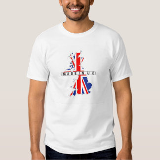 made in united kingdom map flag product label uk t shirt