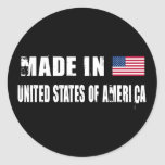 Made in United States of America Round Sticker