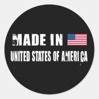 Made in United States of America Round Sticker