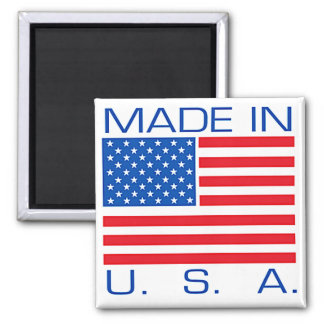 Made in USA 2 Inch Square Magnet