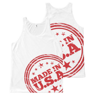 Made in USA All-Over T-Shirt All-Over Print Tank Top