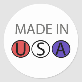 MADE IN USA apparel! Stickers