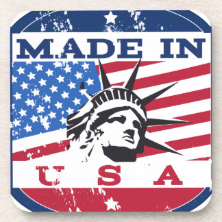 Made In USA Badge Drink Coaster