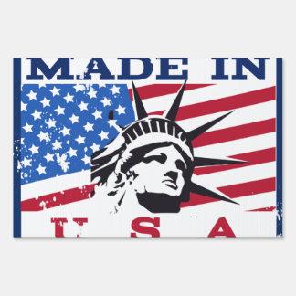 Made In USA Badge Yard Signs