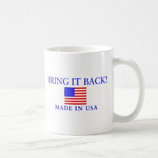 Made In USA Classic White Coffee Mug