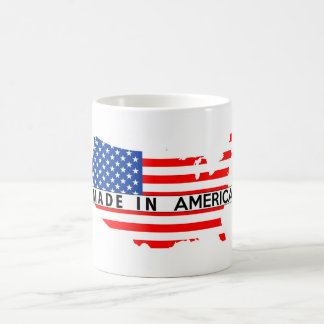 made in usa country map flag product label united coffee mug