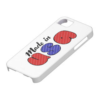 """Made in USA"" cute doode sign, patriotic iPhone SE/5/5s Case"