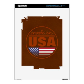 "Made in ...""USA"" Decal For iPad 3"