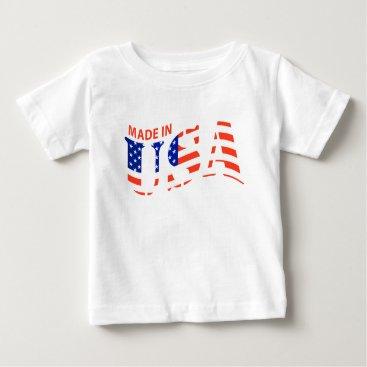 USA Themed MADE IN USA design Baby Shirt