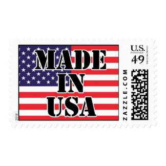 Made In USA Flag stamp