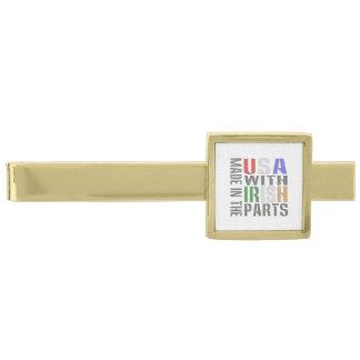 Made in USA Irish Parts Gold Finish Tie Bar