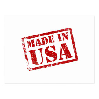 Made in USA, Made in America Postcard