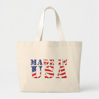 Made In USA Red White Blue Patriotic Colors Tote Bag