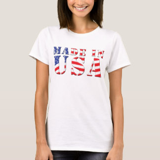 Made In USA Red White Blue Patriotic Colors T-Shirt