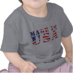 Made In USA Red White Blue Patriotic Colors Tshirts