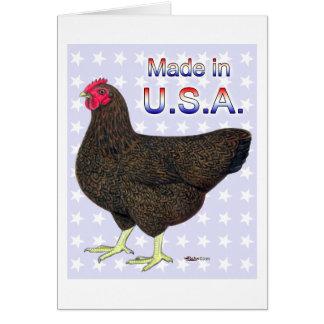 Made In USA Rock Hen Card