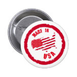 Made in USA rubber stamp design Button