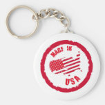 Made in USA rubber stamp design Keychain